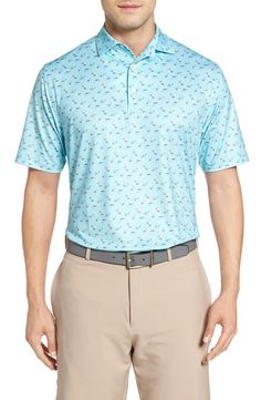 New Peter Millar Pointer Mini Dot Golf Polo ,BIRCH fashion online. [$89.5]top10shopping top<<