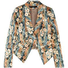 Suno Printed duchesse-satin blazer ($306) found on Polyvore