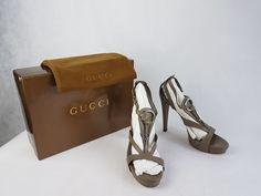 5dca85fb3d2 Nu in de #Catawiki veilingen: Gucci - Sandal Bit -high heels dustbag -