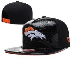NFL Denver Broncos Hats New Era 9FIFTY Snapback leather brim All Black  058 ebd16d366f8