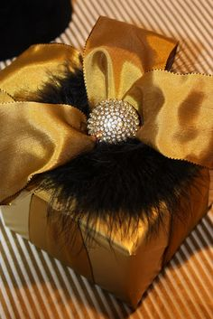 Gilt Crystal & Glamour Gift Wrap by Sande Chase