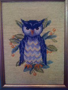 My amazing needlepoint owl