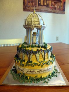 This is a cake of Rivendell from the Hobbit and Lord of the Rings. Way cool.