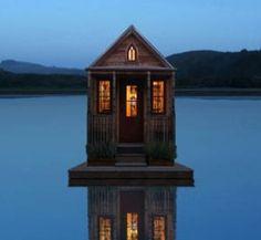 Tiny house on a lake