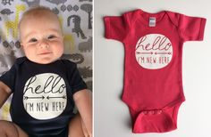 Hello I'm New Here Onesie - 6 Colors! #groopdealz #hello #babylove #onsie   Find it and more daily deals at http://www.groopdealz.com