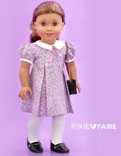 Petals-n-Pleats Doll Clothes Pattern - Trend Center Sewing Patterns For Kids, Doll Clothes Patterns, Doll Patterns, Clothing Patterns, Pixie, Ag Dolls, Girl Dolls, Ag Doll Crafts, Journey Girls