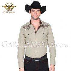 Camisa El General Western Wear 121920 Khaki Vaquero Western