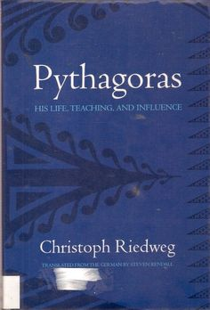 PYTHAGORAS: HIS LIFE, TEACHING & INFLUENCE. Christoph Riedwegs book is an engaging introduction to the fundamental contributions of Pythagoras to the establishment of European culture. Riedweg not only examines the written record but also considers Pythagoras within the cultural, intellectual, & spiritual context of his times. The result is an overview of the life & teachings of a crucial Greek thinker.