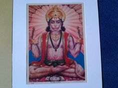A Lovely 1930's Print of Lord Hanuman by Bhargava & by Lallibhai, £10.00
