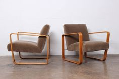 Pair of Tank Chairs by Edward Wormley for Dunbar