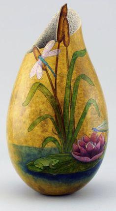 547 best Gourd Art images on Pinterest