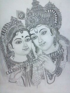 radha krishna by pavan agarwal Radha Krishna Sketch, Ganesha Sketch, Krishna Drawing, Krishna Painting, Krishna Art, Shiva Sketch, Radha Krishna Wallpaper, Radhe Krishna, Lord Krishna Sketch