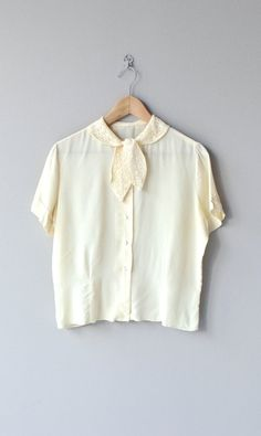 Margeaux blouse vintage 1950s blouse cream 50s by DearGolden