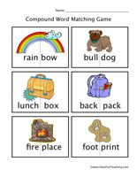 Compound Words Matching Worksheet: Cut out the compound word cards, then put them back together to make compound words. Information: Compound Words Worksheet. Kindergarten Language Arts, Kindergarten Worksheets, Phonics Worksheets, Reading Worksheets, Have Fun Teaching, Teaching Reading, Teaching Manners, Teaching Tools, Learning