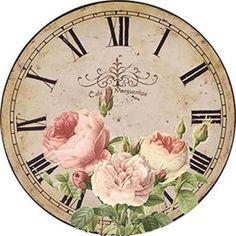 Clock Art, Diy Clock, Clock Ideas, Decoupage Vintage, Vintage Ephemera, Vintage Clocks, Clock Face Printable, Shabby Chic Clock, Paisley Art