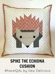 Spike The Echidna Cushion - Sew Delicious