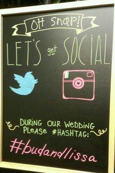 Hashtag Wedding Photo Booth