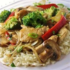 Stir-Fry Chicken and Vegetables (used around 1lb of chicken, doubled amt of soy, corn starch, etc that went with chicken)