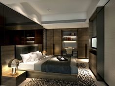 service apartment interior design mocha - _unit01_ (4) bedroom