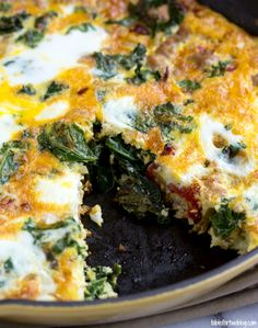Use up those garden veggies in this turkey, kale, onion, and sundried tomato frittata!