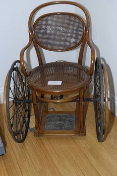 Vintage wheelchair, circa 1945.  >>> See it. Believe it. Do it. Watch thousands of spinal cord injury videos at SPINALpedia.com