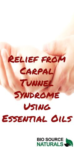 Essential oils for support and relief of carpal tunnel syndrome.