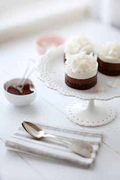 Chocolate, Hazelnut and Coconut Mousse Cakes