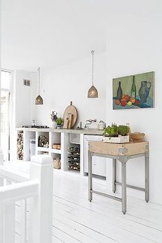 Loving the idea of a kitchen island.    My twist: Getting a kitchen cart to be turned into extra counter top space when needed.