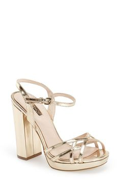 Topshop 'Lola' Ankle Strap Platform Sandal (Women) available at #Nordstrom