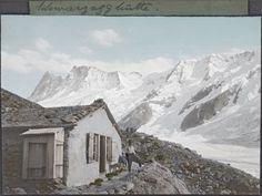 August Gysi (1878-1928), Schwarzegghütte am Fuss des Schreckhorns, Berner Alpen, 1905 (geschätzt)