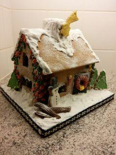 Kersthuisje van gingerbread
