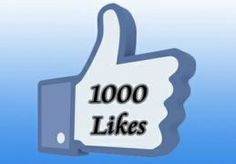 I will add 1000 Facebook likes to your page withou... for $3