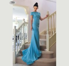 Lush, Liquid Cap Sleeve Formal Gown in Aqua Blue Style 7506 by Miracle Agency Formal Evening Dresses, Formal Gowns, Formal Wear, Prom Dresses, Mermaid Skirt, Mermaid Gown, Aqua Blue Color, Designer Evening Gowns, Bridal And Formal