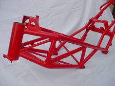 Ducati frame in Atlas Red  Work by Architectural Elements/367 Customs.