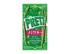 【香り高いパクチー味!】ローソンから「グリコ プリッツパクチー」先行発売   こちら販売中新作です♪ #ローソン #グリコ #プリッツ #パクチー