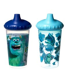 Love this Blue Monsters Inc. Slim Sippy Cup - Set of Two by Disney Baby on #zulily! #zulilyfinds