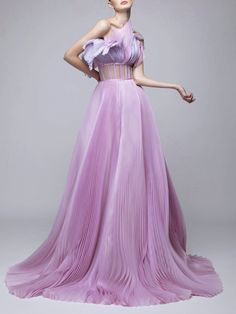 High Fashion Dresses, Pink Fashion, Couture Fashion, Runway Fashion, Fashion Show, Fashion Outfits, Elegant Dresses Classy, Dress With Shawl, Types Of Dresses