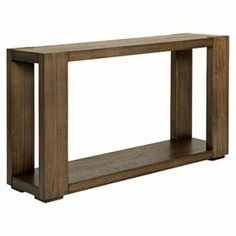 """Showcasing a rich walnut finish and clean-lined silhouette, this handsome console table is the perfect counterpoint to a vase of lush flowers and feminine-chic decor.    Product: Console tableConstruction Material: Walnut veneerColor: Distressed walnutFeatures: One shelfDimensions: 32"""" H x 56"""" W x 16"""" D"""