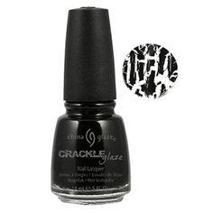 Crackle Glaze Black Mesh Nail Polish #81053