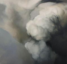 """Ambera Wellmann / Cloud #34 16"""" x 16""""  Oil on Wood  2010"""