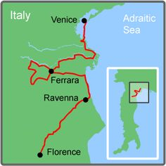 Venice to Florence Bike Tour, I especially like the section crossing the Venice lagoons island to island.