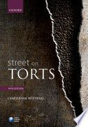 Tried and tested by generations of students, Street on Torts provides a wide-ranging, clear and accurate explanation of the law of torts. Witting incorporates the latest learning on each of the torts covered in this book to provide a thoughtful account of the purposes, rules, and operation ofthe law. Coverage has been closely mapped to undergraduate law courses around the UK. Online Resource Centre:Coverage on animal torts available on the accompanying Online Resource Centre.