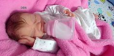 Full body solid Ecoflex 20 silicone preemie baby girl Summer #1 drinks and wet