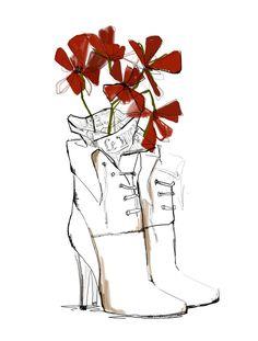 beautiful Chloé illustration by Garance Doré Arte Fashion, Style Fashion, Fashion Trends, Art Et Illustration, Fashion Sketches, Fashion Illustrations, Shoe Sketches, Fashion Drawings, Art Inspo