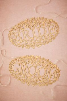 product | Bride & Groom Banners fem BHLDN | laser cut details