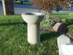 diy concrete birdbath for less than six dollars, concrete masonry, crafts, gardening, landscape, outdoor living