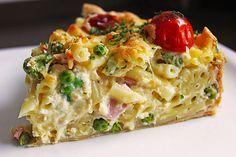 Schnelle Makkaroni-Quiche, ein leckeres Rezept aus der Kategorie Pasta. Bewertungen: 83. Durchschnitt: Ø 4,1.