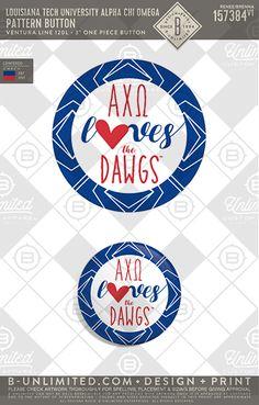 Love them DAWGS! LTU AXO #AXO #alphachiomega #alphachi #achio #gameday #buttons #PR #greekshirts #greekbuttons #gamedaybuttons