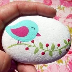 Painted rocks // paint & over 127 amazing ideas for rock art - diy . - Painted rocks // paint & over 127 amazing ideas for rock art – diy ideas – - Rock Painting Patterns, Rock Painting Ideas Easy, Rock Painting Designs, Rock Painting Kids, Pebble Painting, Pebble Art, Stone Painting, Painting Flowers, Mandala Painting