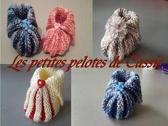 Tuto chaussons de bébé 0/3mois au tricot - YouTube Crochet Mandala, Crochet Flowers, Crochet Baby, Knit Crochet, Easy Youtube, Baby Slippers, Baby Boots, Easy Knitting, Lana